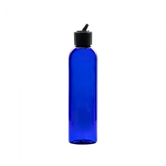 Blue 6oz Plastic With Spout Apothecary Bottles with a spout