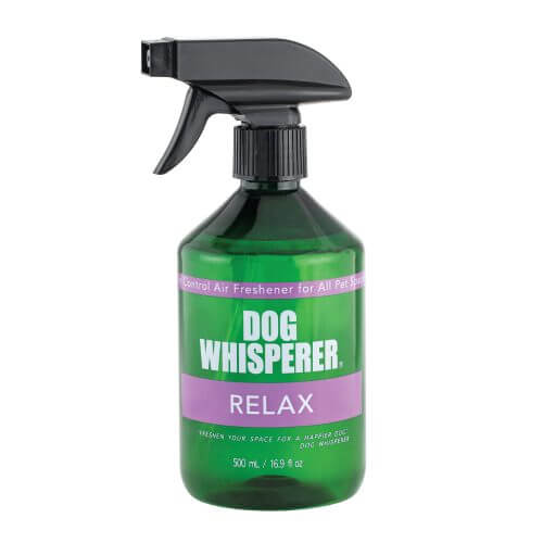 Dog Whisperer Relax Air Freshener Spray 500 mL in a trigger style spray bottle