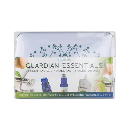Guardian Essentials Tin with Essential Oil Topical Roll-on and PocketAroma Package front