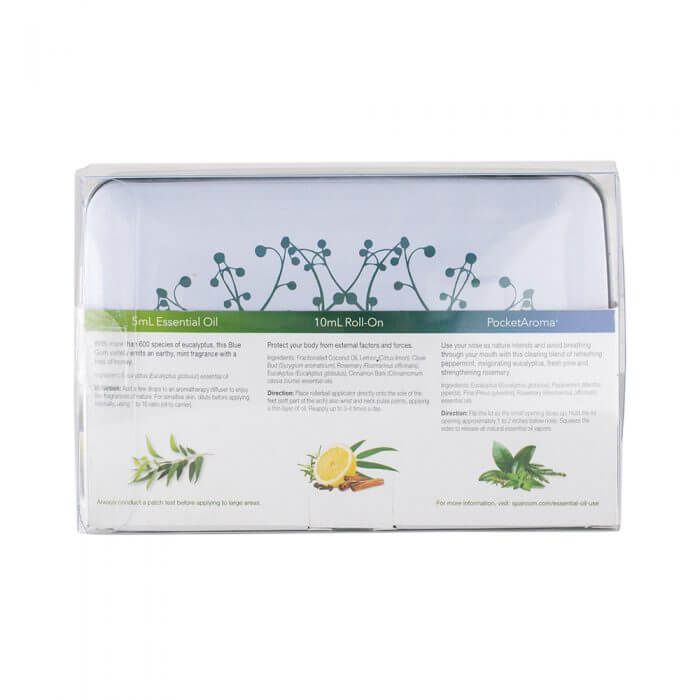 Guardian Essentials Tin with Essential Oil Topical Roll-on and PocketAroma Package back