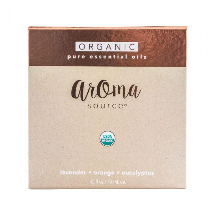 Aroma Source 3 Pack Organic Essential Oils Front Closed