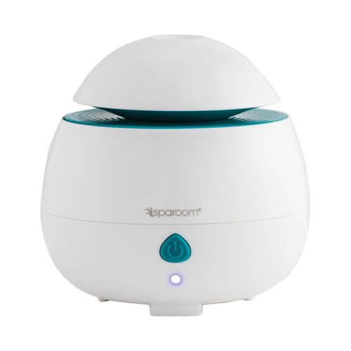 AromaPod Ultrasonic Essential Oil Diffuser turned on