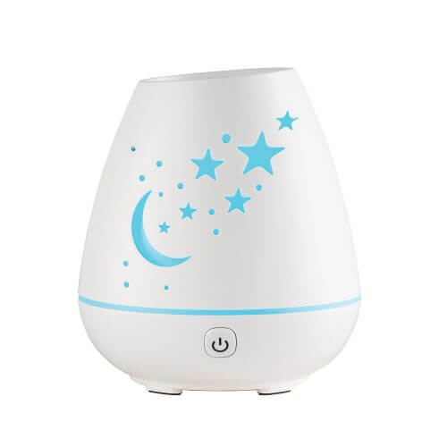 Celeste Ultrasonic Essential Oil Diffuser with Power On