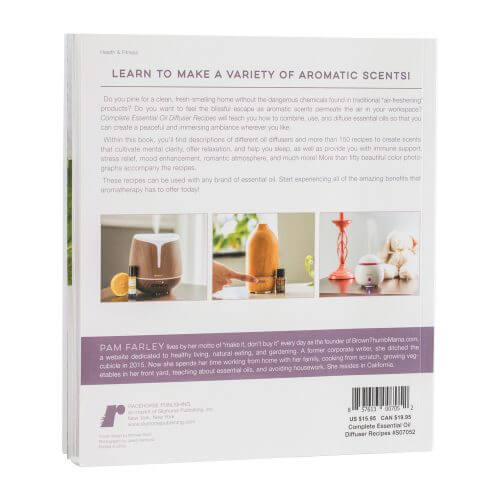 Essential Oil Recipe Book Back Cover