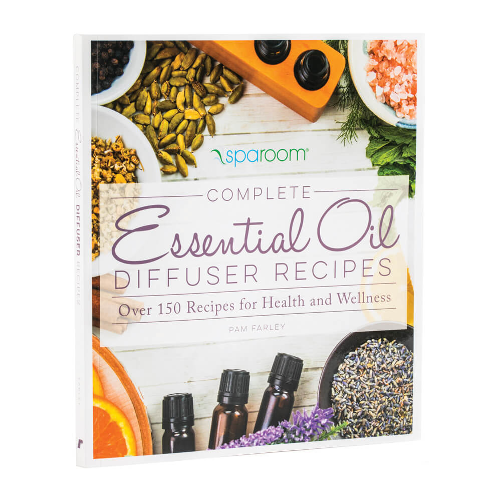 Complete Essential Oil Diffuser Recipes with a beautiful colorful cover of oils and herbs