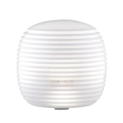 Halo Ultrasonic Essential Oil Diffuser with the power turned on