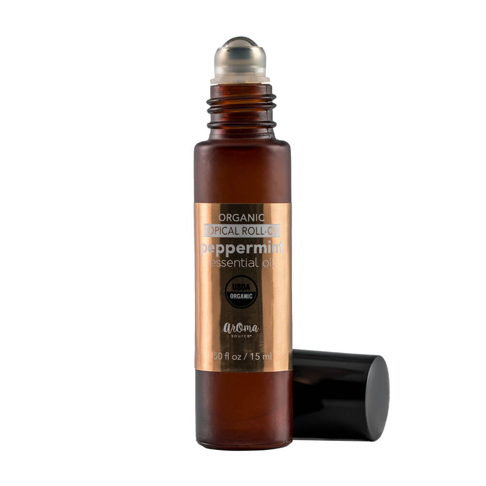 Peppermint Organic Roll On Bottle