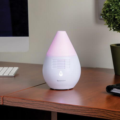Scentifier Essential Oil Diffuser on Desk with Computer