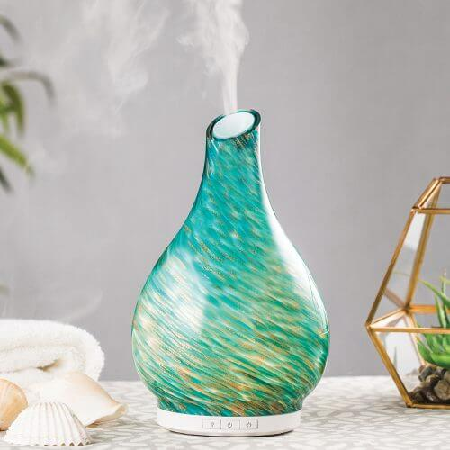 Seascape Essential Oil Diffuser on Table with Sea Shells