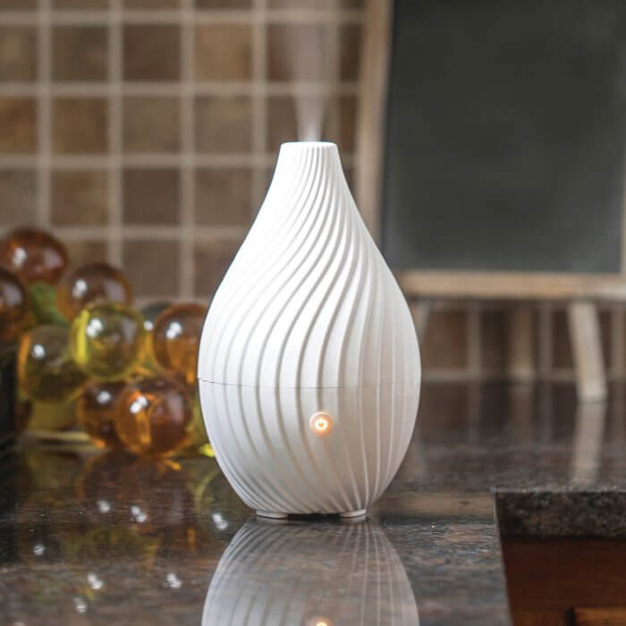 Spirale Essential Oil Diffuser on Kitchen Coutner