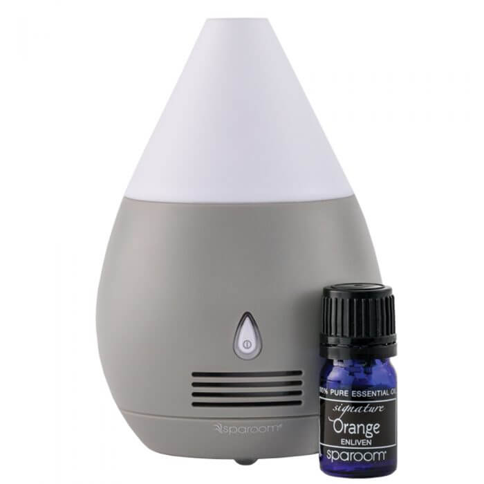 BTC Slate Gray Mini Scentifier Essential Oil Diffuser with Oil Power Off