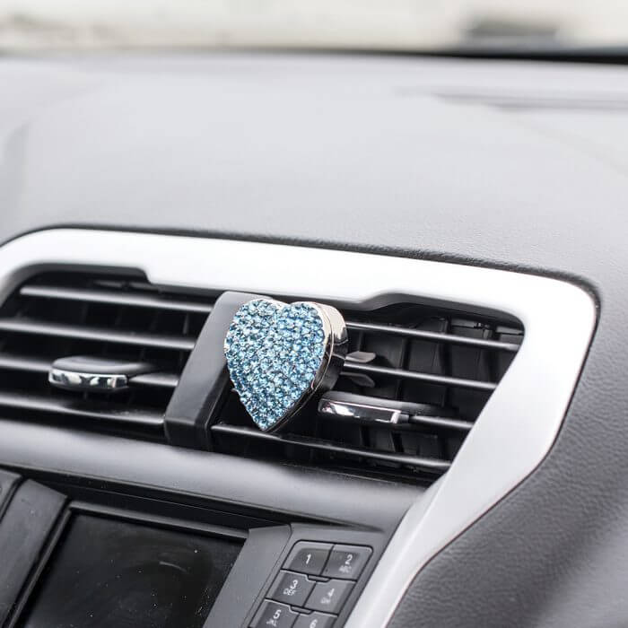 Blue BlingAir Car Diffuser on vent in car