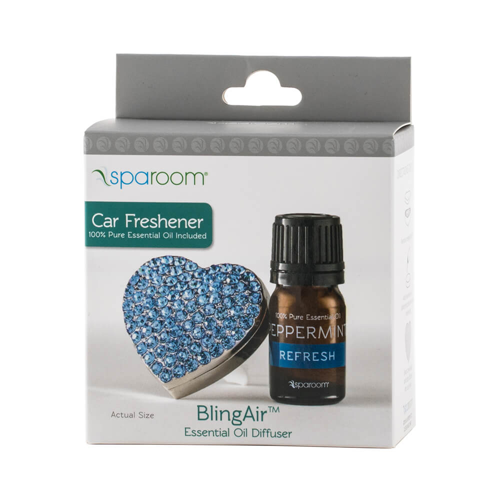 Blue BlingAir Car Diffuser with Essential Oil Package