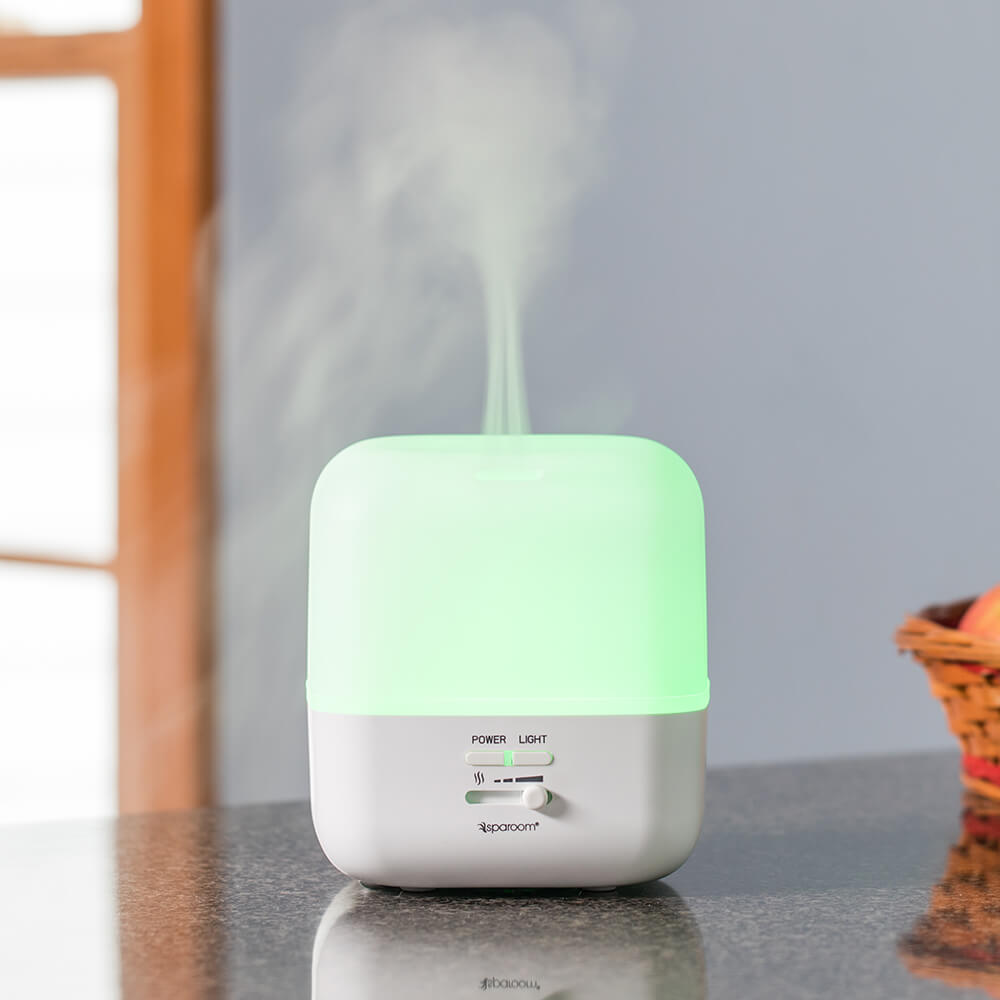GuardianAir Essential Oil Diffuser Turned On Misting