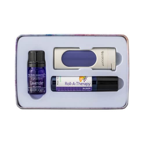 Sleep Essentials Tin Package Essential Oil Topical Roll-on Pocket Aroma Contents
