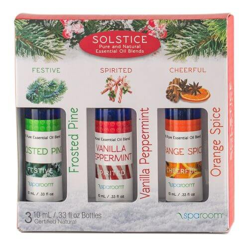 Solstice 3 pack of Essential Oil Blends Holiday package