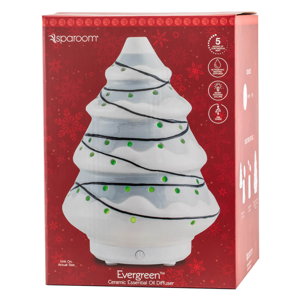 Evergreen Gray Essential Oil Diffuser Package