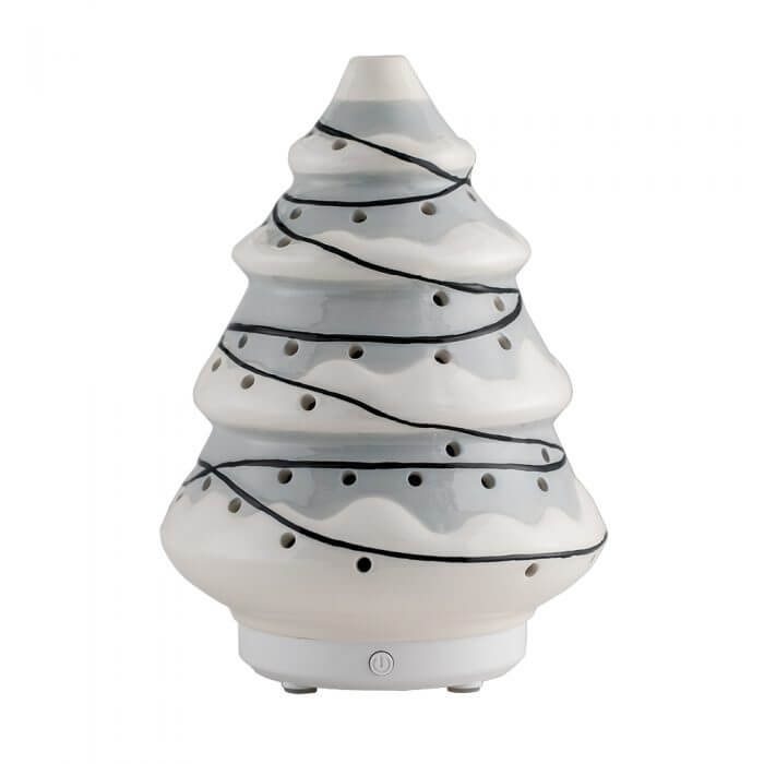 Evergreen Gray Essential Oil Diffuser with Power Off