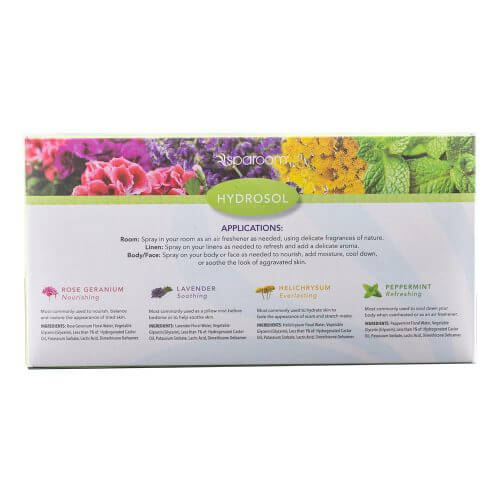 Herbal Elements Hydrosol Box Back