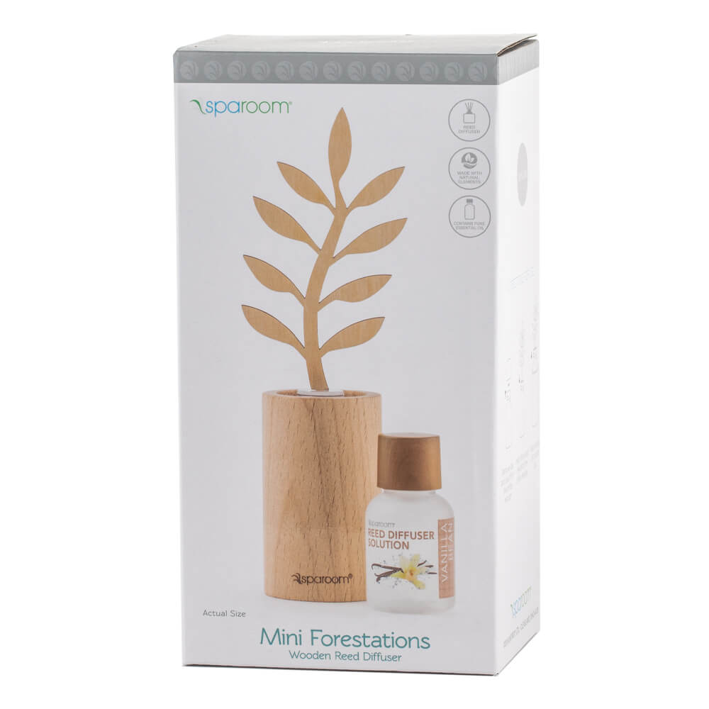 Mini Forestations Reed Diffuser - Vanilla Bean Box