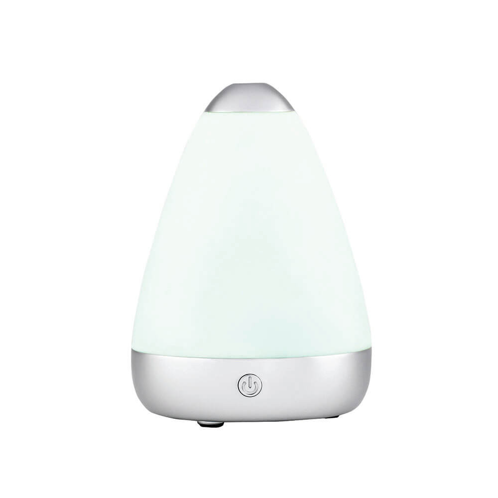 Mini PureMist Ultrasonic Essential Oil Diffuser turned on with white light