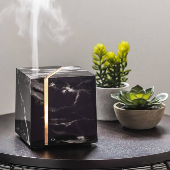 Onyx Black Essential Oil Diffuser On Table
