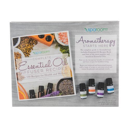Essential Oil Recipe Book with Essential Oils on a table top