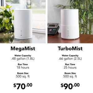 Do You Have A Diffuser and A Humidifier? Essential Oil Humidifier Comparison Chart
