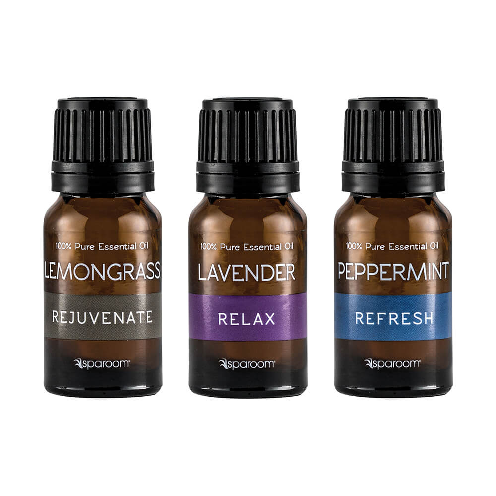 Sparoom Everyday Essential Oils 3-Pack 10mL Essential oils bottled and closed