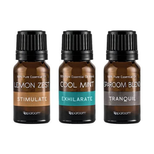 SpaRoom Signature Essential Oils 3-Pack bottles closed