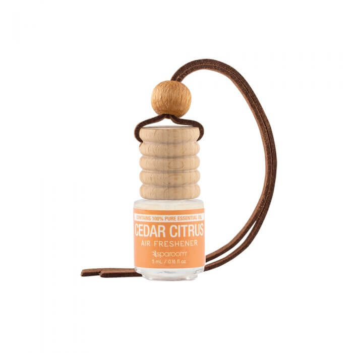 Trapeze Cedar Citrus Air Freshener with rope loop for hanging