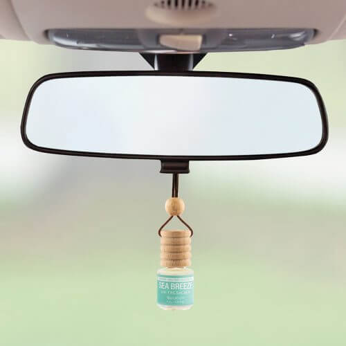 Trapeze Sea Breeze Air Freshener on rear view mirror
