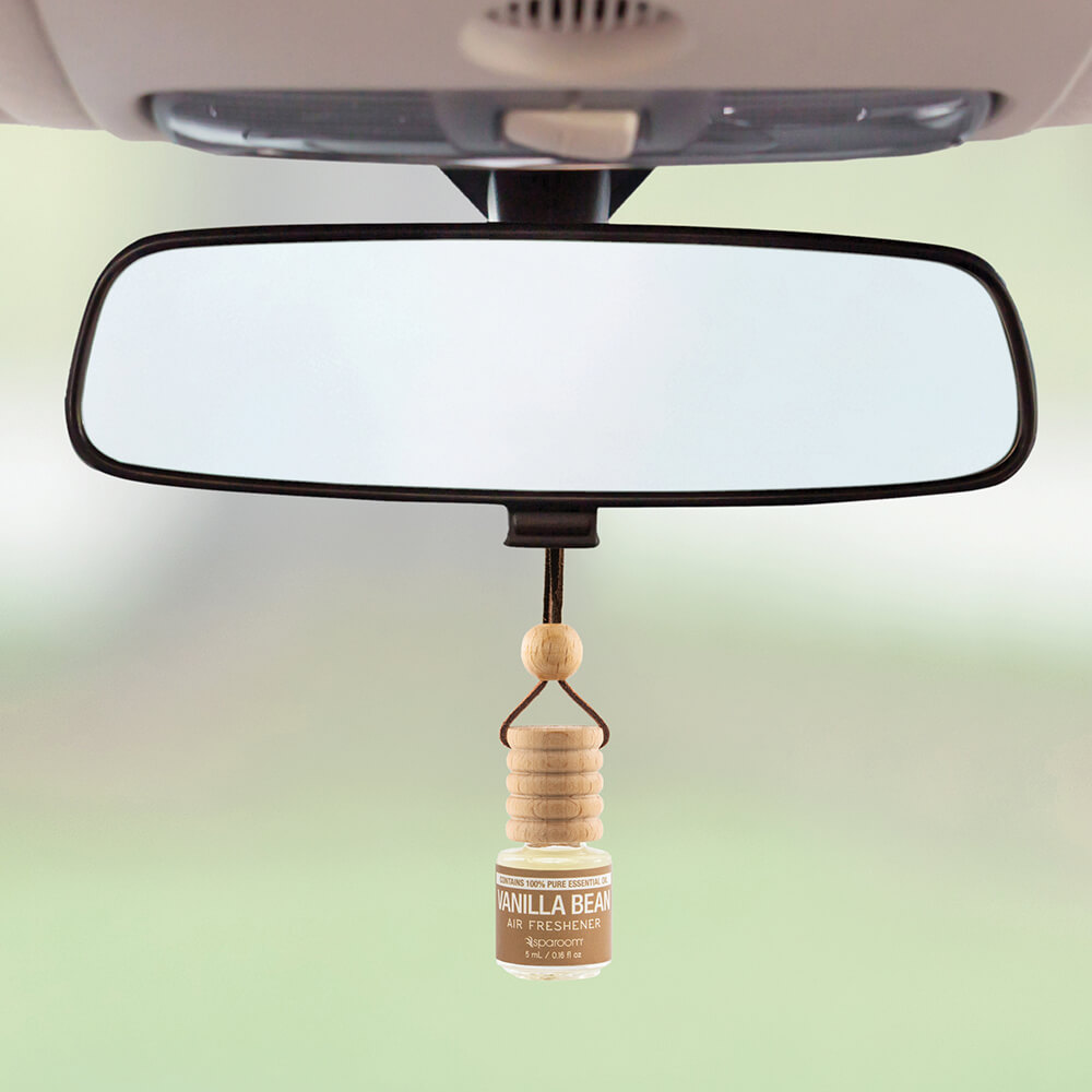 Trapeze Vanilla Bean Air Freshener on rear view mirror