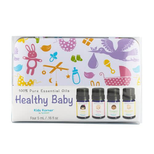 Healthy Baby Essential Oil 4-pack Tin front package