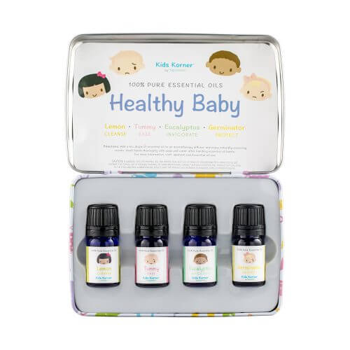 Healthy Baby Essential Oil 4-pack Tin Open