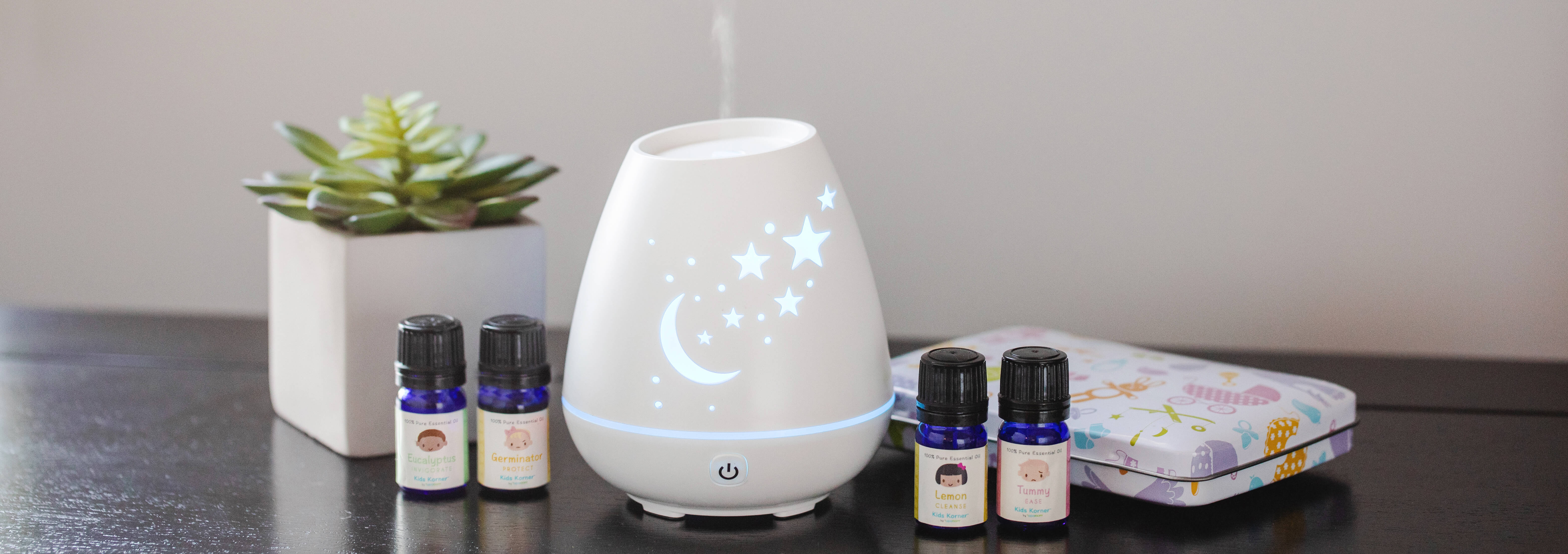 Kids Friendly Essential Oil Diffusing Collage