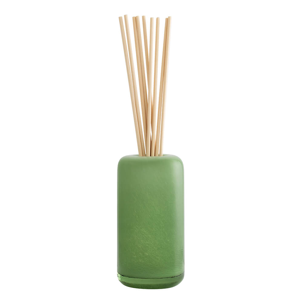 Blooming Gardenia Glass Reed Diffuser with fabric reeds