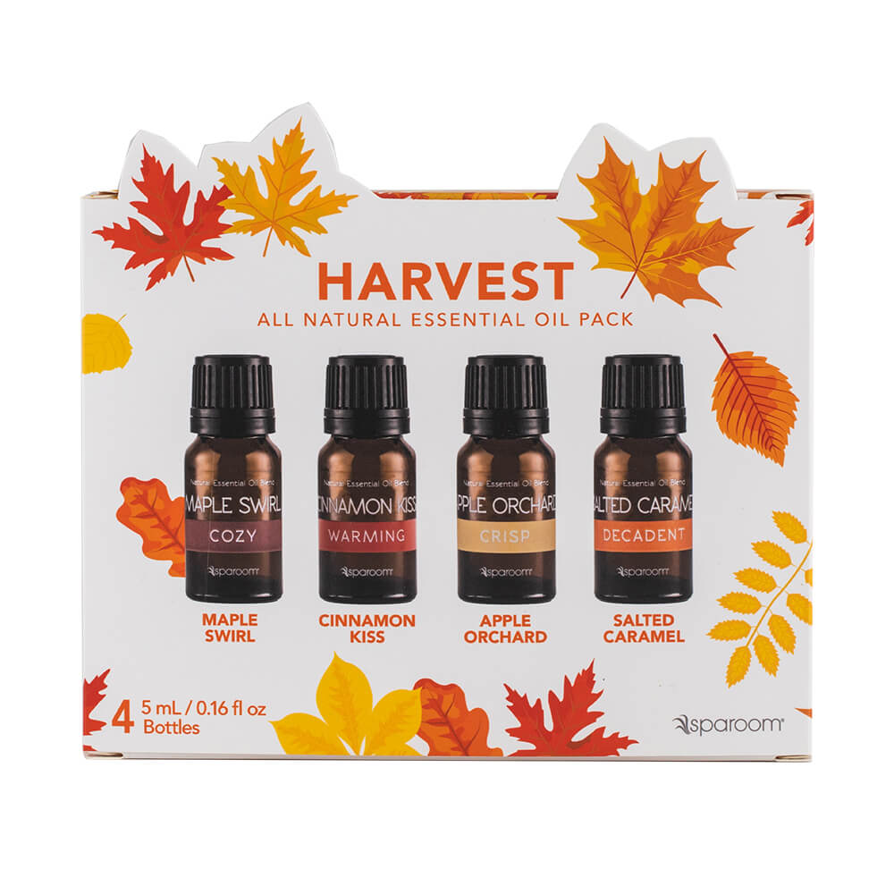 Harvest 4 Essential Oil Pack in its package