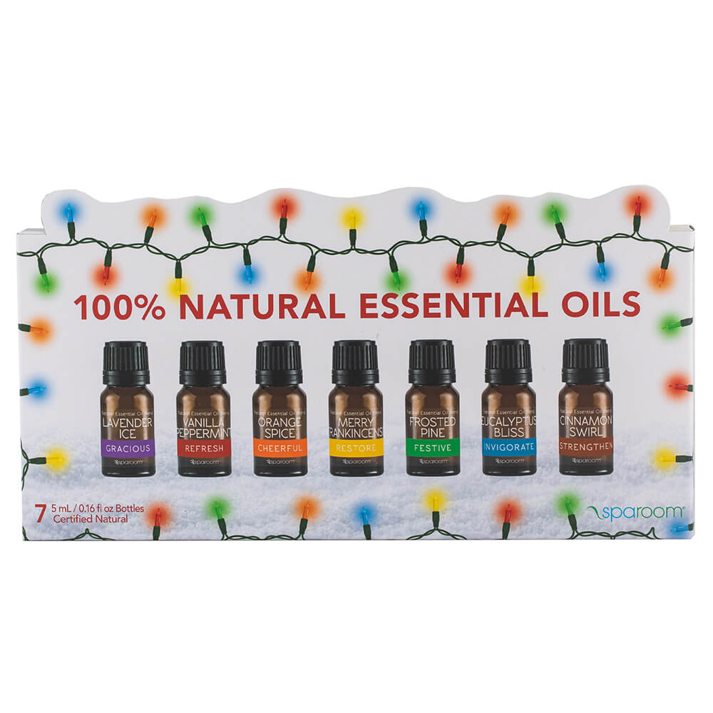 Holiday 7 Essential Oil Pack packaged and ready for use