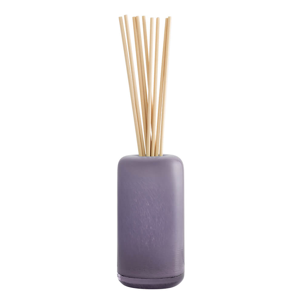 Lavender and Bergamot Glass Reed Diffuser with fabric reeds