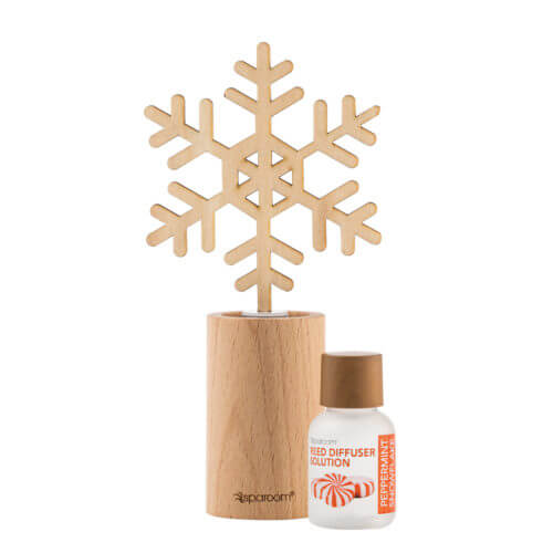 Peppermint Snowflake Holiday Mini Forestations with oil solution