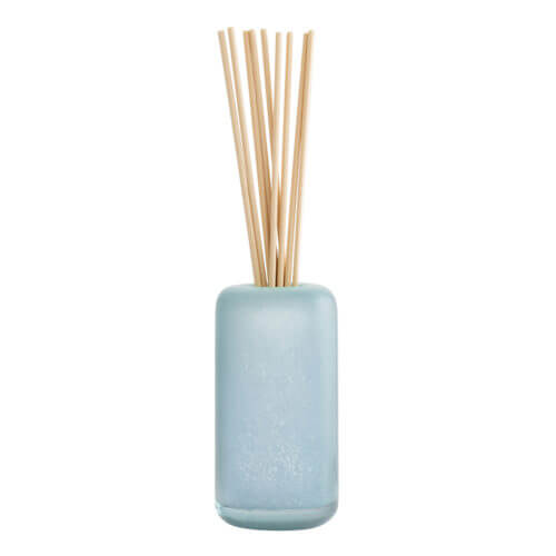 Sea Salt and Coconut Glass Reed Diffuser with fabric reeds